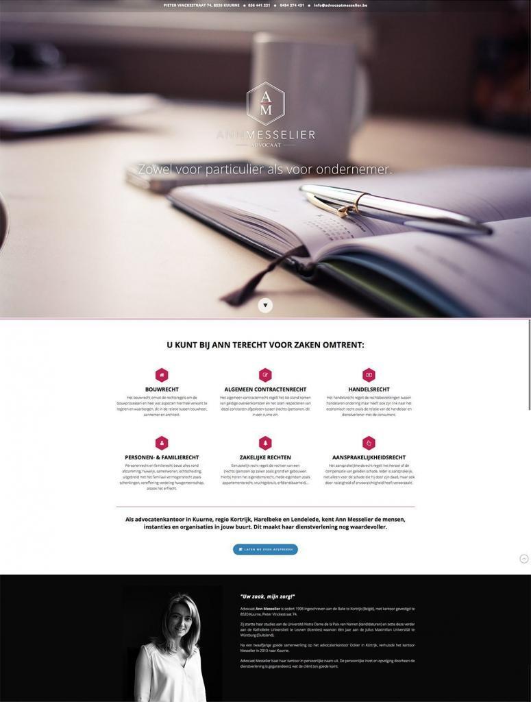 Advocate Ann Messelier - Tevreden klant van BARNS KORTRIJK - website, e-shop, webshop, nieuwsbrief, bedrijfsfoto's kleine ondernemingen