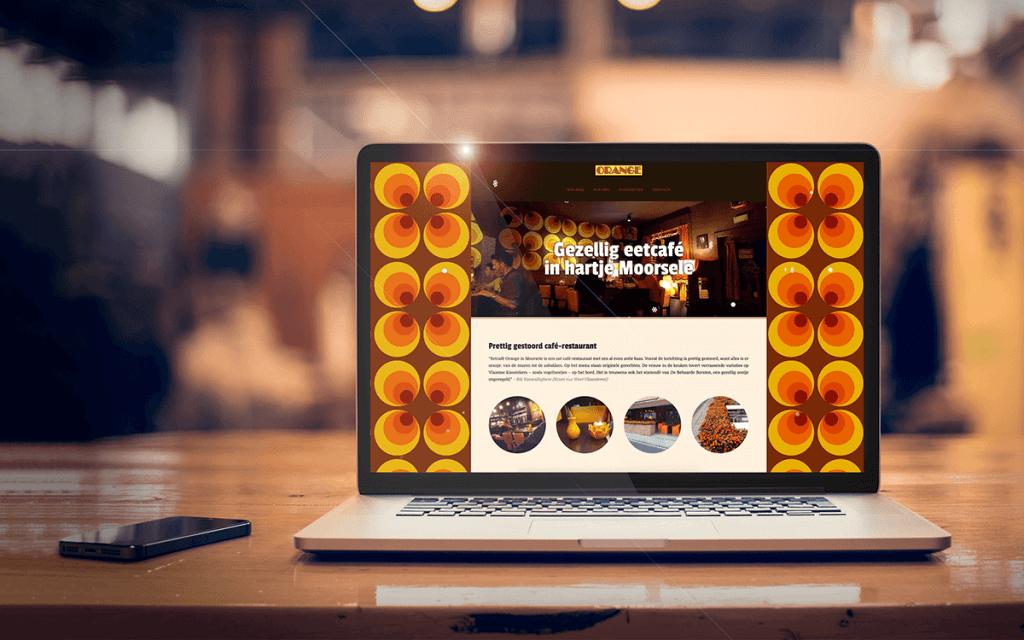 Eetcafé Orange - Tevreden klant van BARNS KORTRIJK - website, e-shop, webshop, nieuwsbrief, bedrijfsfoto's kleine ondernemingen