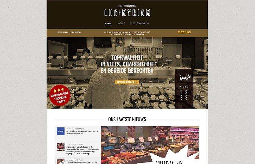 Slagerij Luc en Myriam - Tevreden klant van BARNS KORTRIJK - website, e-shop, webshop, nieuwsbrief, bedrijfsfoto's kleine ondernemingen