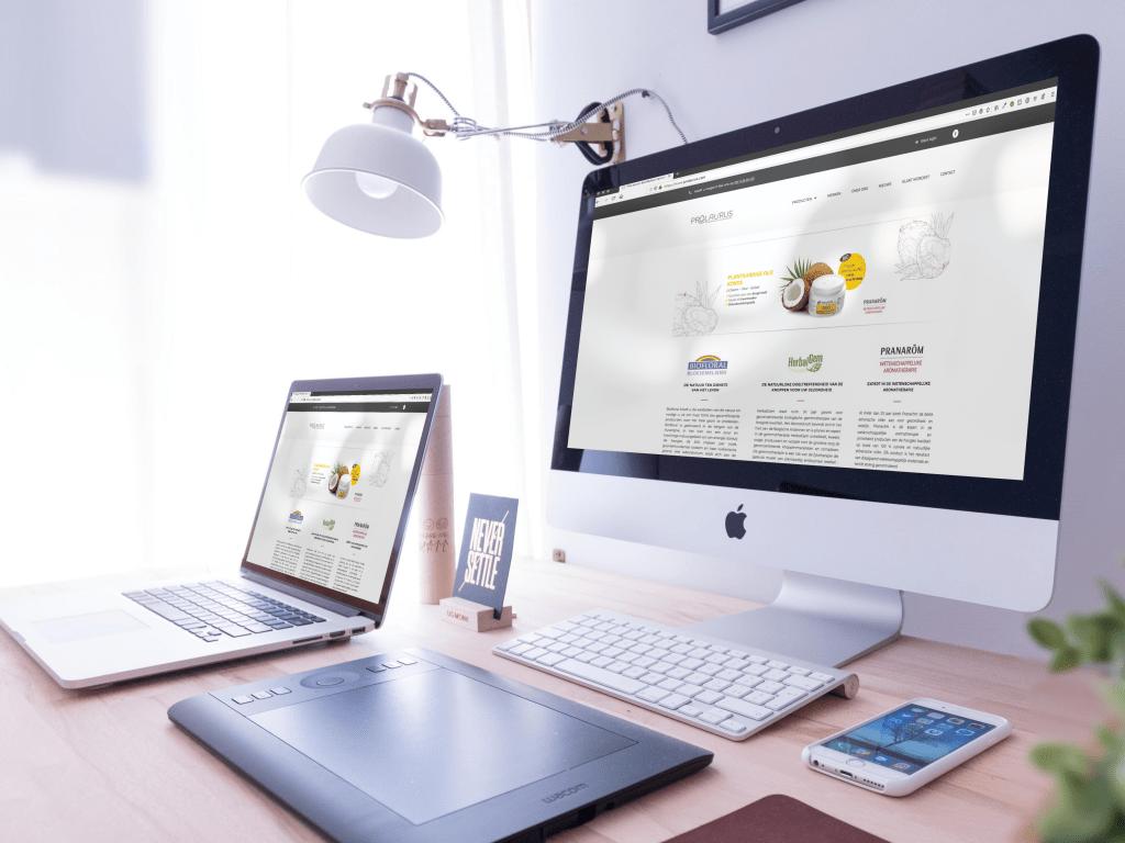 Prolaurus website - ontwikkeld door BARNS Kortrijk