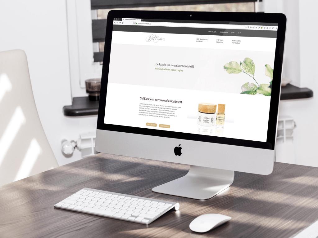 Sol'Esta website: ontwikkeld door BARNS Kortrijk