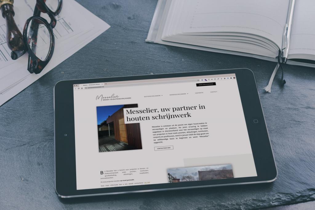 schrijnwerkmesselier.be - ontwikkeld door BARNS Kortrijk